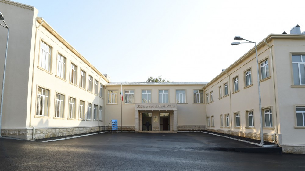 President Ilham Aliyev viewed school No 239 in Sabayil district after major overhaul VIDEO