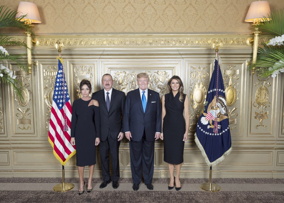 President Ilham Aliyev attended reception hosted by US President Donald Trump and his wife