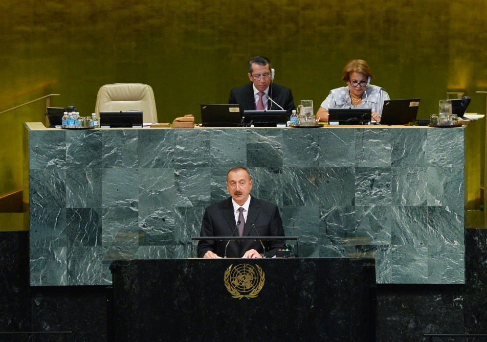 President Ilham Aliyev addressed opening of 72nd Session of UN General Assembly VIDEO