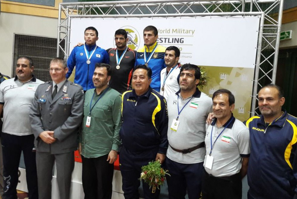Azerbaijani freestyle wrestlers rank 3rd in medal table of World Military Championships
