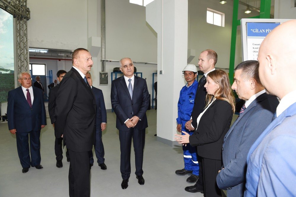 President Ilham Aliyev attended opening of Neftchala Industrial Hub VIDEO