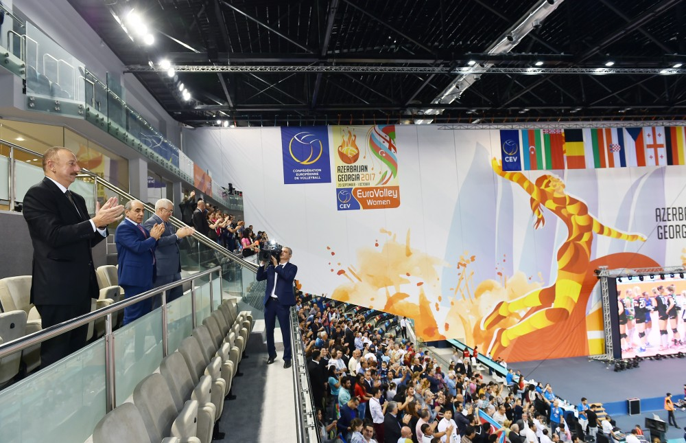 Azerbaijan reaches quarterfinal of women's EuroVolley after beating Germany 3-1President Ilham Aliyev watched the national team`s game VIDEO