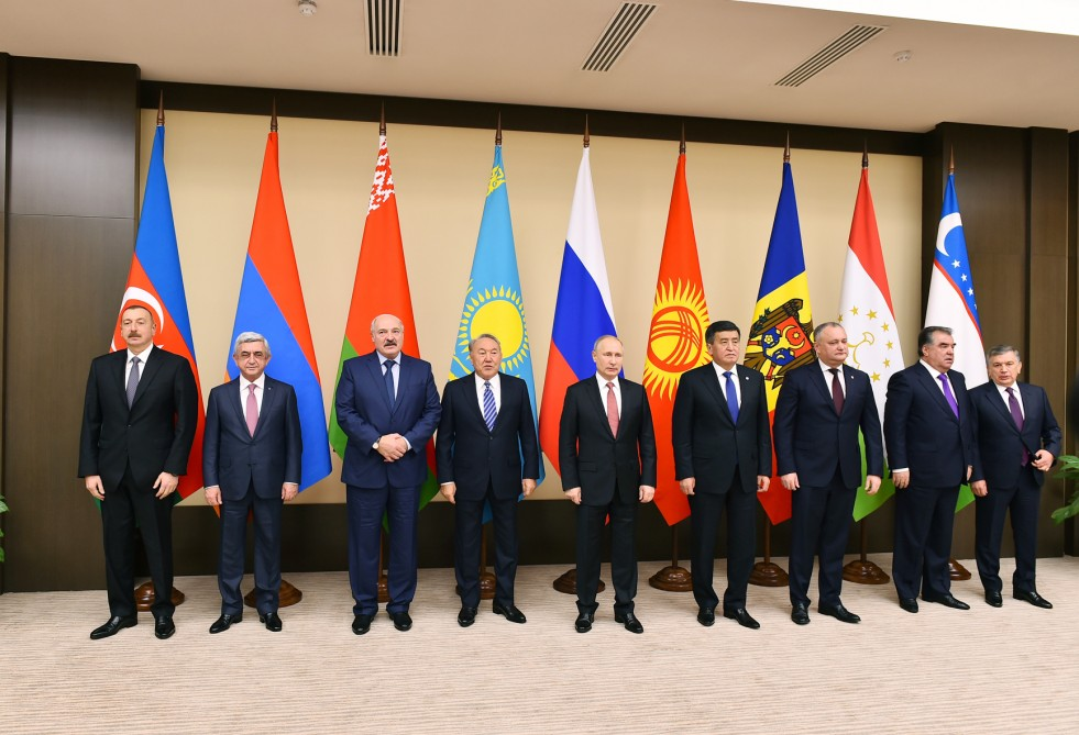 President Ilham Aliyev attended informal meeting of the CIS heads of state in Moscow