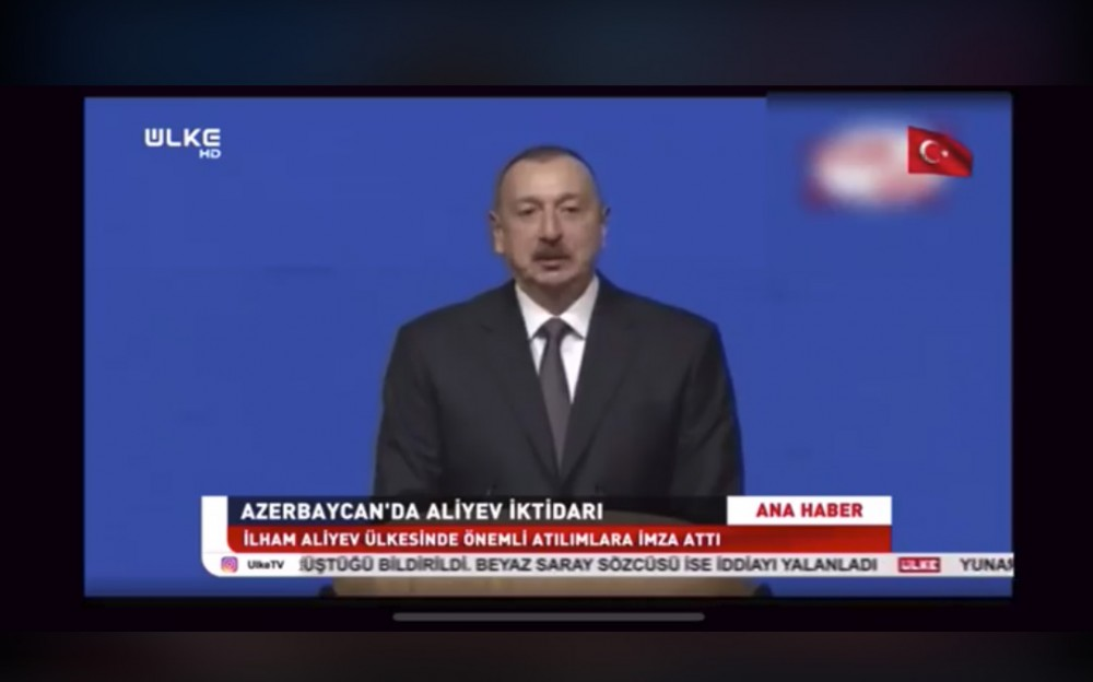 Turkish Ulke TV channel broadcasts reportage on presidential elections to be held in Azerbaijan VIDEO