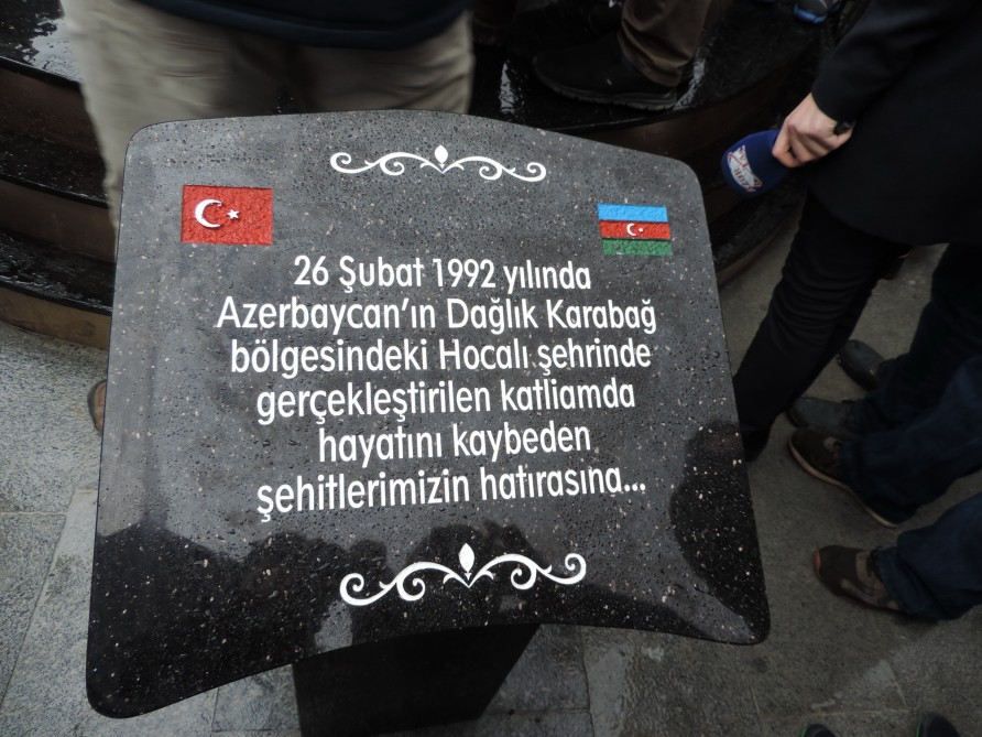 Azerbaijan Friendship Park and Khojaly genocide memorial inaugurated in Istanbul