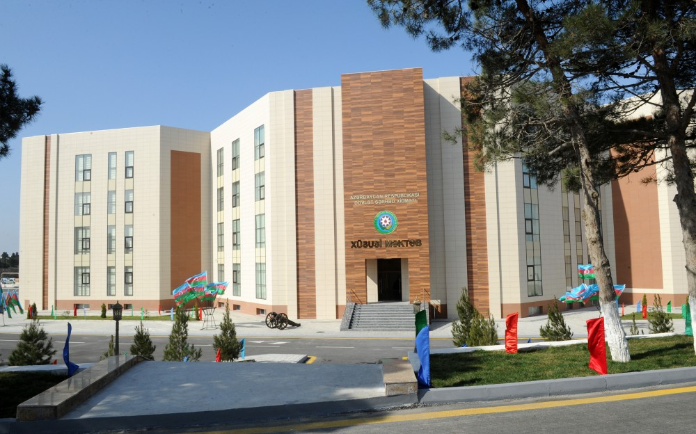 First Vice-President Mehriban Aliyeva attended opening of new education block of Special School of State Border Service