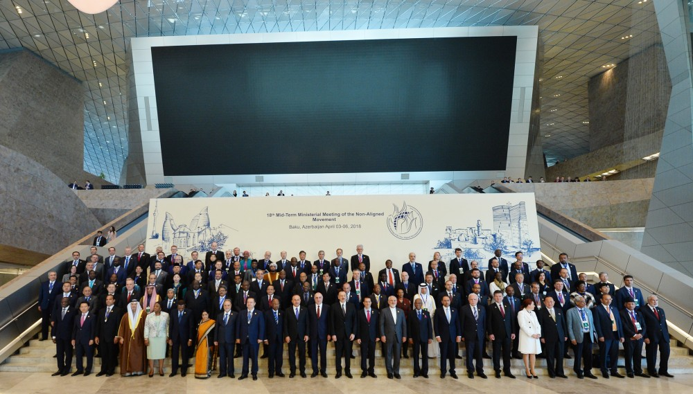 Opening ceremony of Mid-Term Ministerial Conference of Non-Aligned Movement held in Baku President of Azerbaijan Ilham Aliyev attended the opening ceremony VIDEO