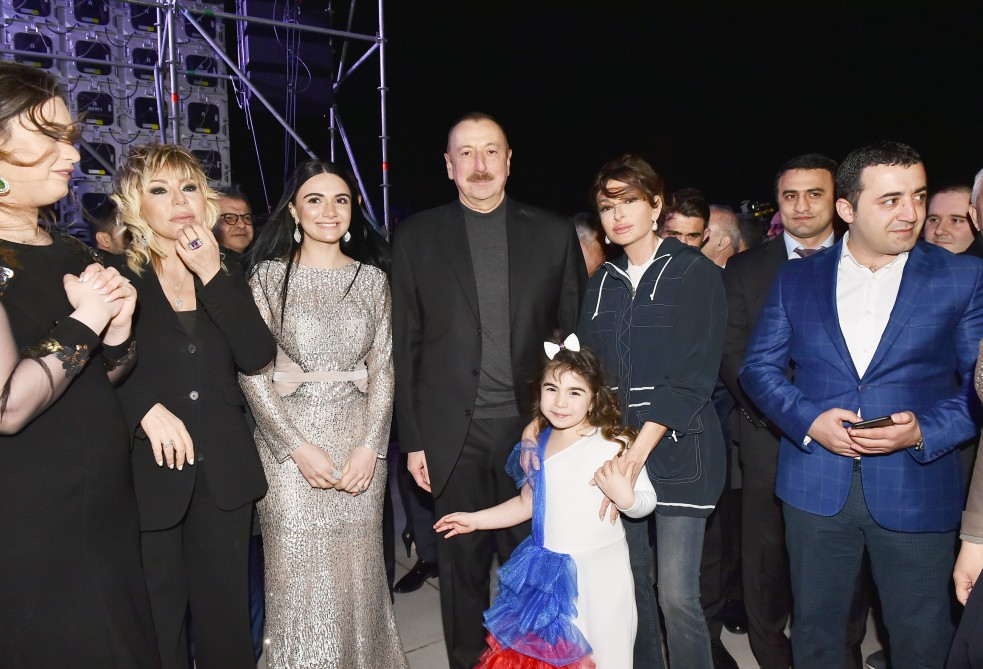 Concert dedicated to Ilham Aliyev`s landslide victory in presidential election was held in Baku VIDEO