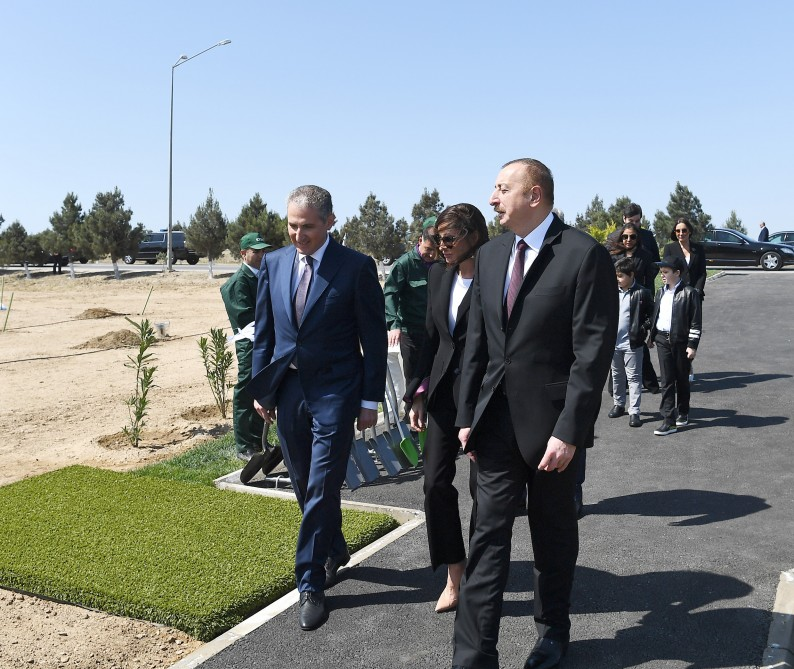 President Ilham Aliyev attended tree-planting campaign on the occasion of national leader Heydar Aliyev`s birthday VIDEO