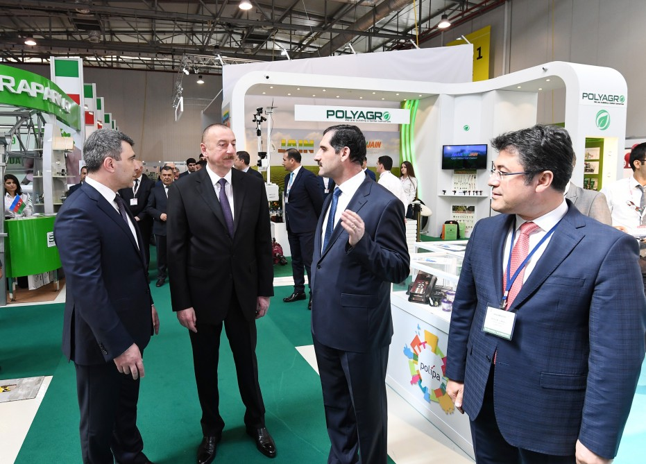 President Ilham Aliyev viewed 24th Azerbaijan International Food Industry exhibition and 12th Azerbaijan International Agriculture Exhibition VIDEO