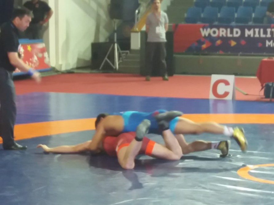 Azerbaijan claims 3rd bronze at World Military Wrestling Championship