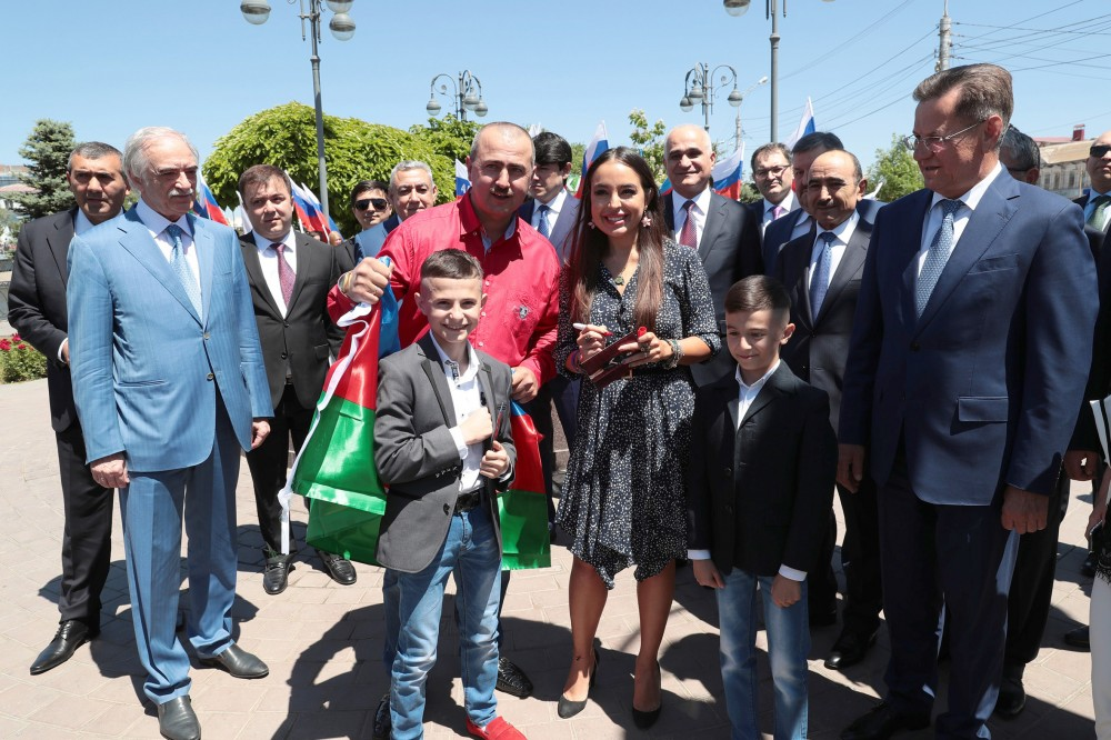 Azerbaijan Business Center opens in Astrakhan  Vice-President of Heydar Aliyev Foundation Leyla Aliyeva attends the event
