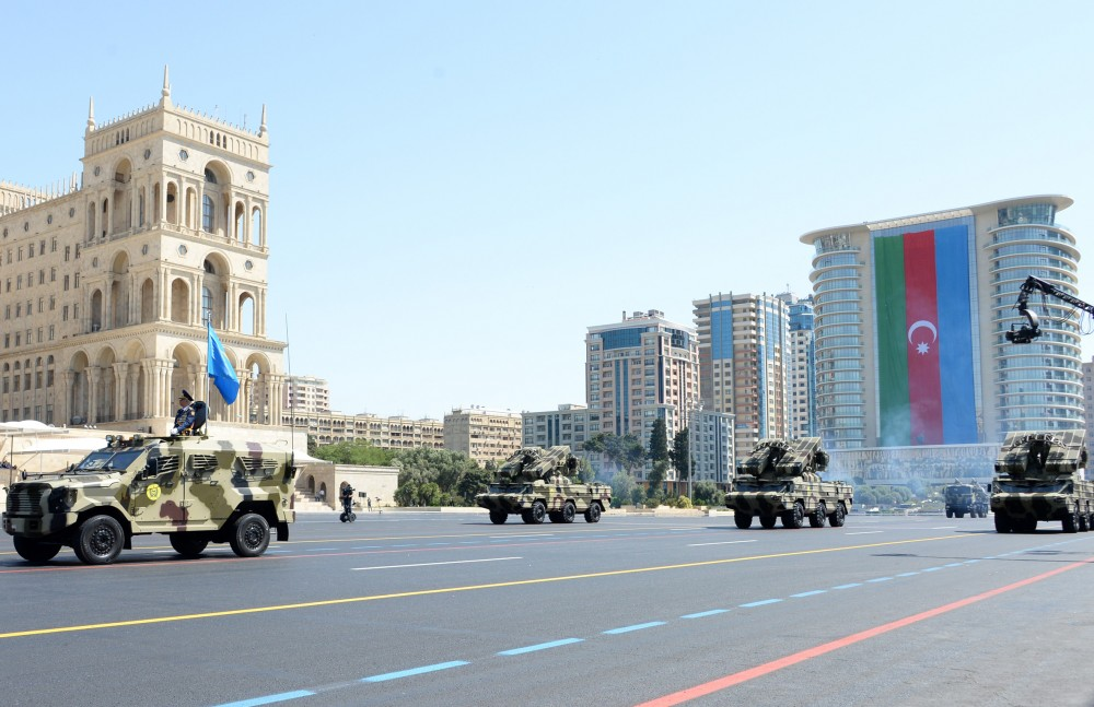 Solemn military parade held in Baku to mark 100th anniversary of Azerbaijani Armed Forces  President, Commander-in-Chief Ilham Aliyev attended the parade VIDEO