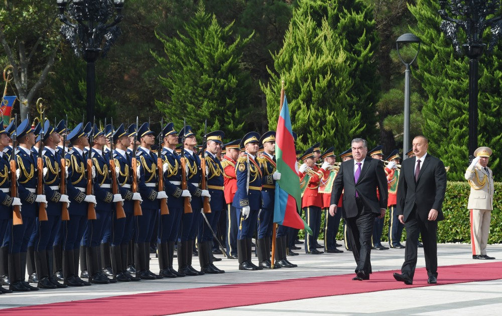 Official welcome ceremony was held for President of Tajikistan Emomali Rahmon  VIDEO
