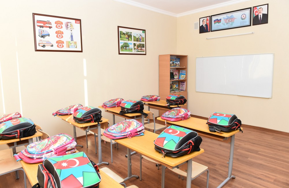 President Ilham Aliyev viewed conditions created at secondary school No 227 VIDEO