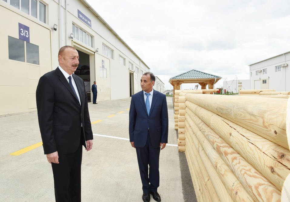 President Ilham Aliyev attended opening of Masalli Industrial Estate VIDEO
