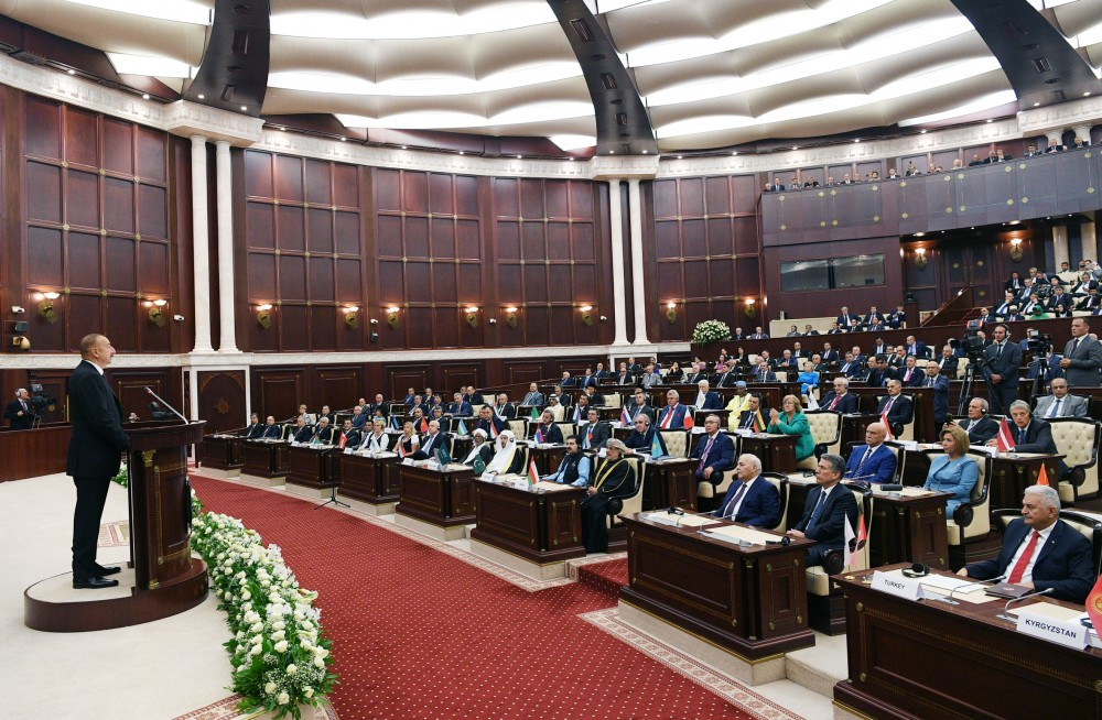 Solemn meeting marking centenary of Azerbaijani parliament was held at Milli Majlis President Ilham Aliyev attended the meeting VIDEO