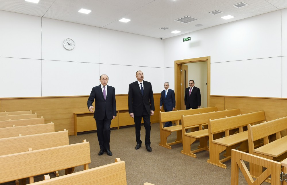 President Ilham Aliyev inaugurated new administrative building of Binagadi District Court VIDEO