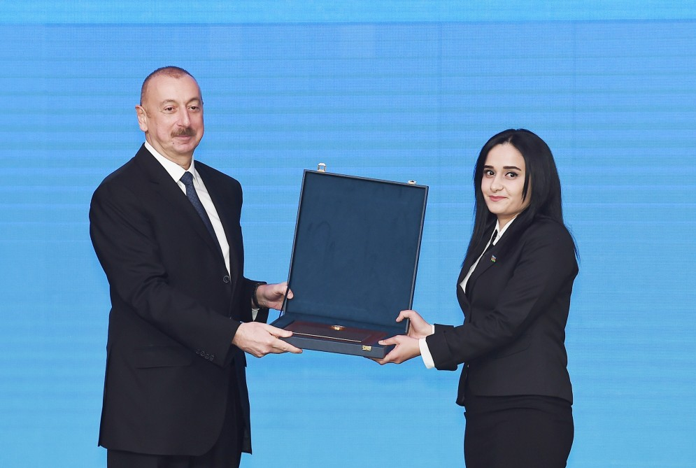 President Ilham Aliyev attended republican conference dedicated to Azerbaijani Youth Day VIDEO