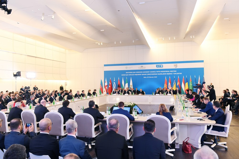 Fifth Ministerial Meeting of Southern Gas Corridor Advisory Council held in Baku  President Ilham Aliyev attended the meeting VIDEO