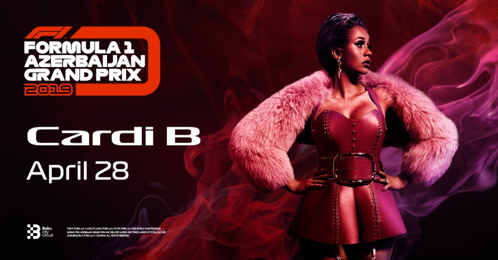 Cardi B to close out Formula 1 Azerbaijan Grand Prix 2019