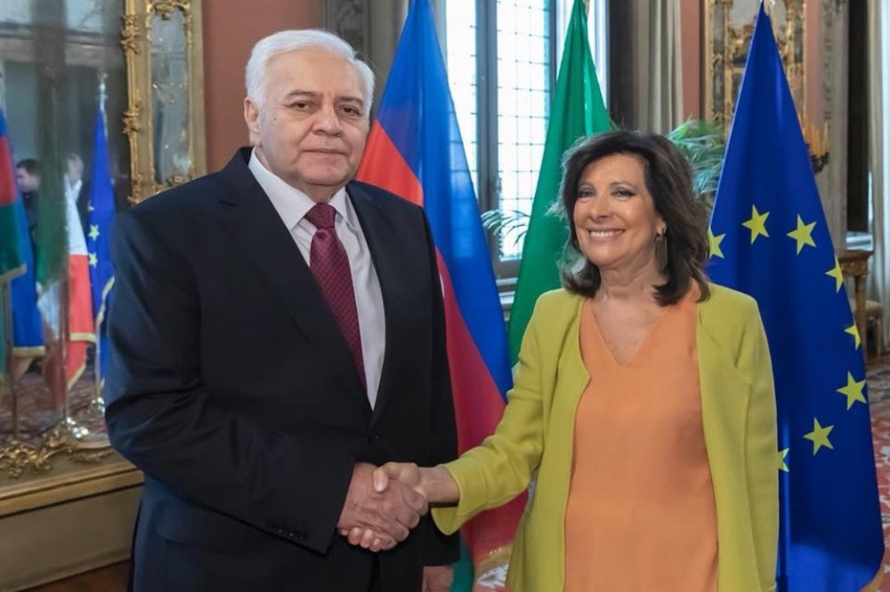 Speaker of Azerbaijan`s Parliament holds series of high level meetings in Rome