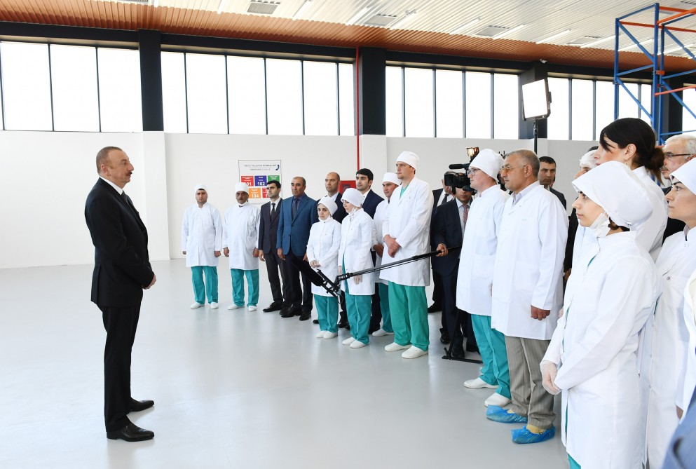 "President Ilham Aliyev attended opening of ""Diamed"" syringe plant in Pirallahi Industrial Park VIDEO"
