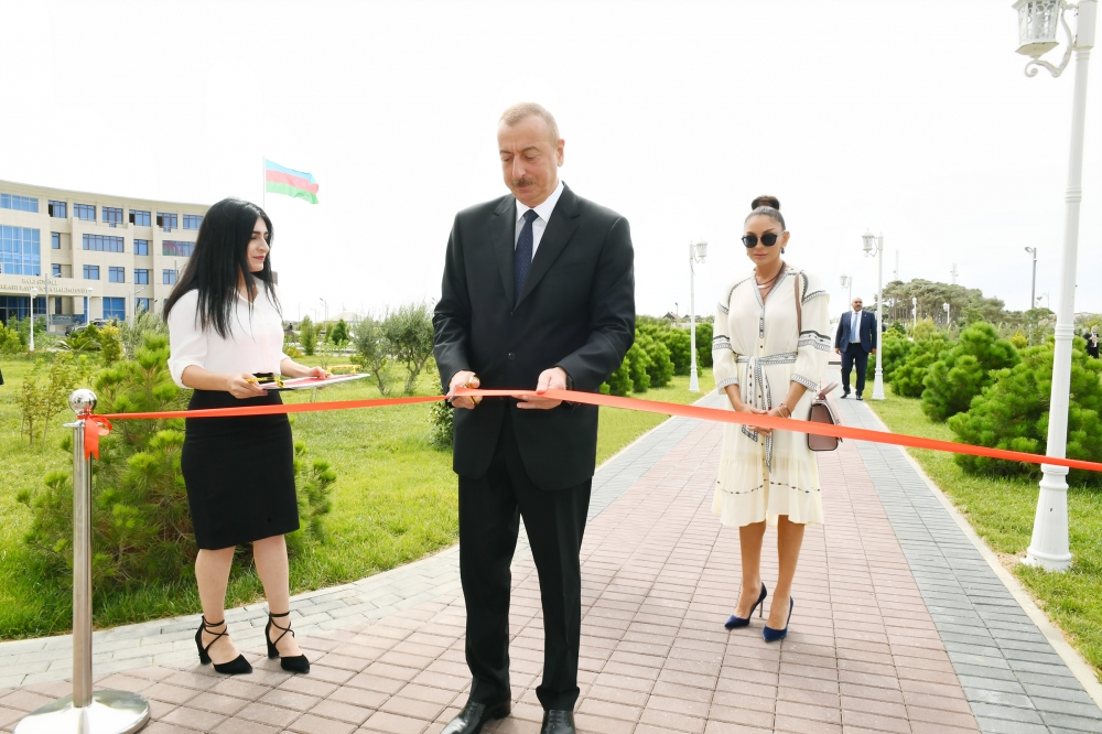 President Ilham Aliyev attended inauguration of new administrative building of YAP Pirallahi district branch VIDEO