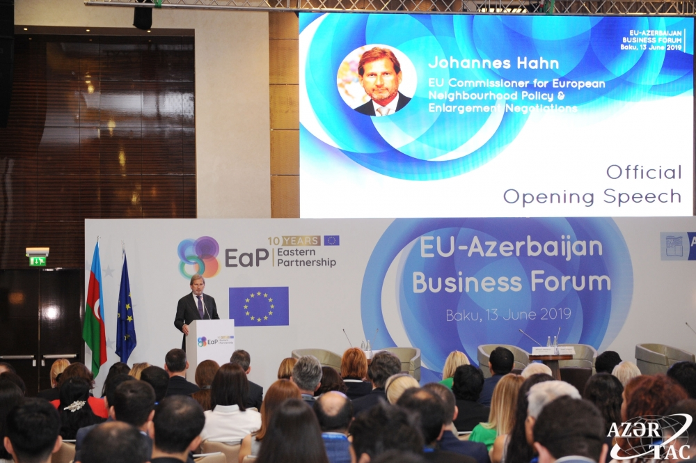 Baku hosts 5th EU-Azerbaijan Business Forum VIDEO