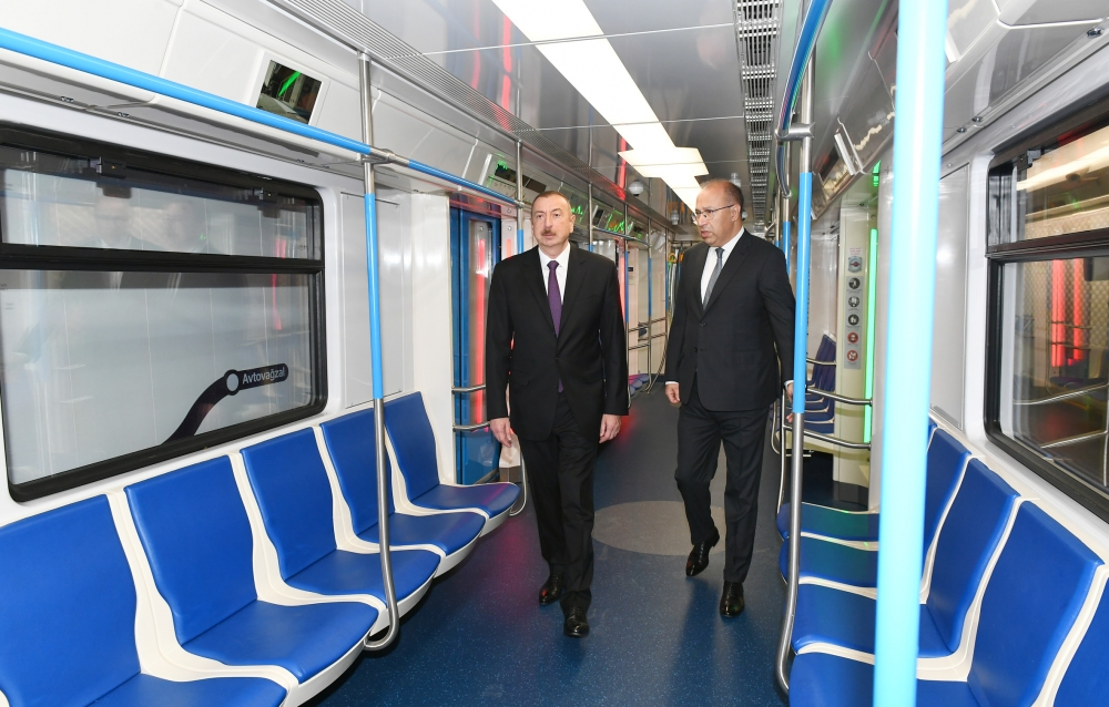 President Ilham Aliyev viewed conditions created at Khatai station of Baku Metro after major overhaul VIDEO