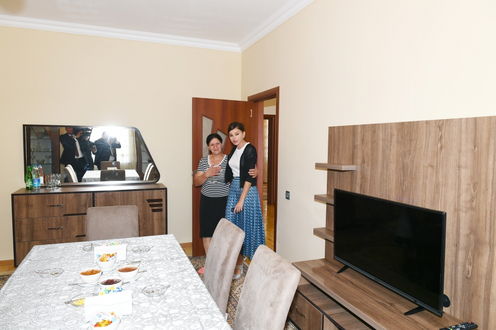 First Vice-President Mehriban Aliyeva viewed new house built instead of quake-damaged one in Shamakhi VIDEO