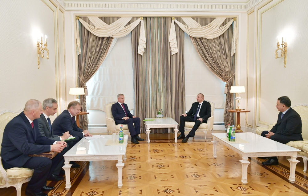 President Ilham Aliyev received delegation led by State Secretary of Security Council of Belarus