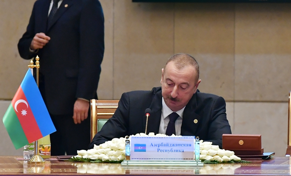 President Ilham Aliyev attended expanded session of Council of CIS Heads of State in Ashgabat VIDEO