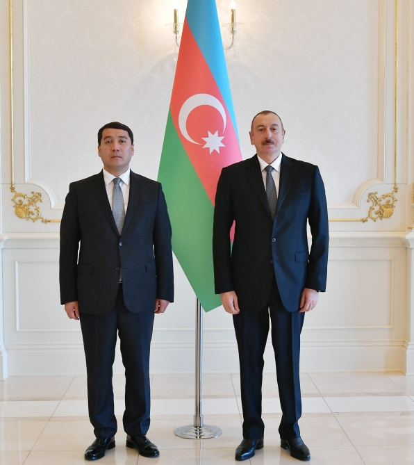 President Ilham Aliyev received credentials of incoming Kazakh ambassador VIDEO