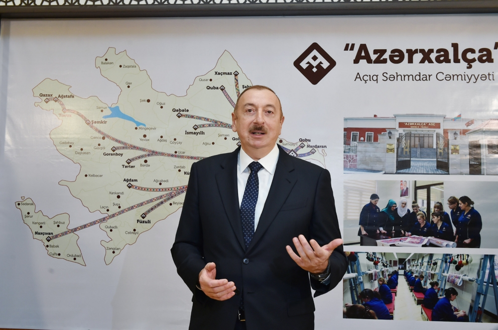 President Ilham Aliyev attended opening of Gabala branch of Azerkhalcha OJSC VIDEO