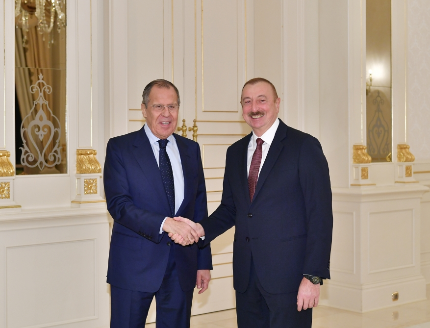 President Ilham Aliyev received Russian foreign minister VIDEO