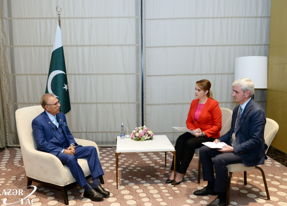 President Arif Alvi highlights prospects for Azerbaijan-Pakistan cooperation in his interview with AZERTAC