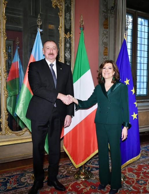 President Ilham Aliyev met with President of Italian Senate VIDEO
