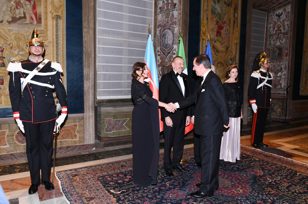 State dinner hosted in honor of President Ilham Aliyev in Rome VIDEO