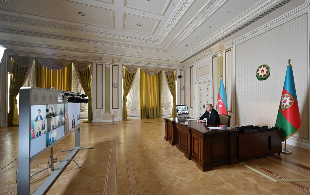 Initiated by CISCO, videoconference between President Ilham Aliyev and company's senior executives held VIDEO