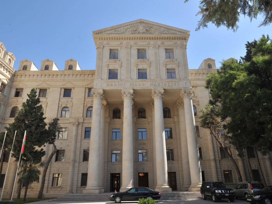 "Foreign Ministry: Holding the so-called ""inauguration"" is another manifestation of the annexation policy of Armenia"