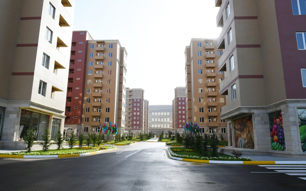 President Ilham Aliyev inaugurated Gobu Park-3 residential complex for IDPs  VIDEO