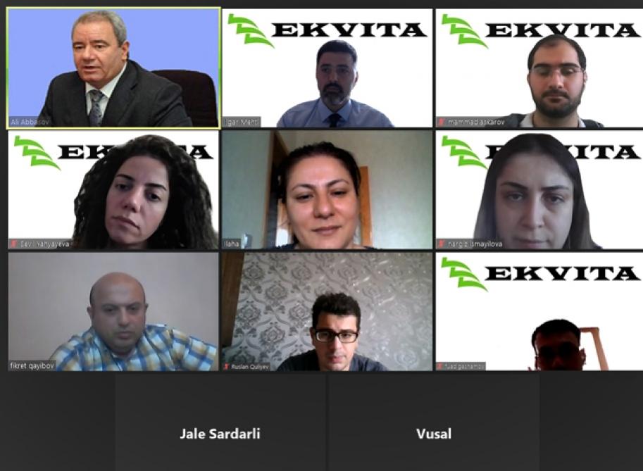 """AMEA YT Park ilə """"Ekvita"""" şirkəti arasında əməkdaşlıq perspektivləri müzakirə olunub"""