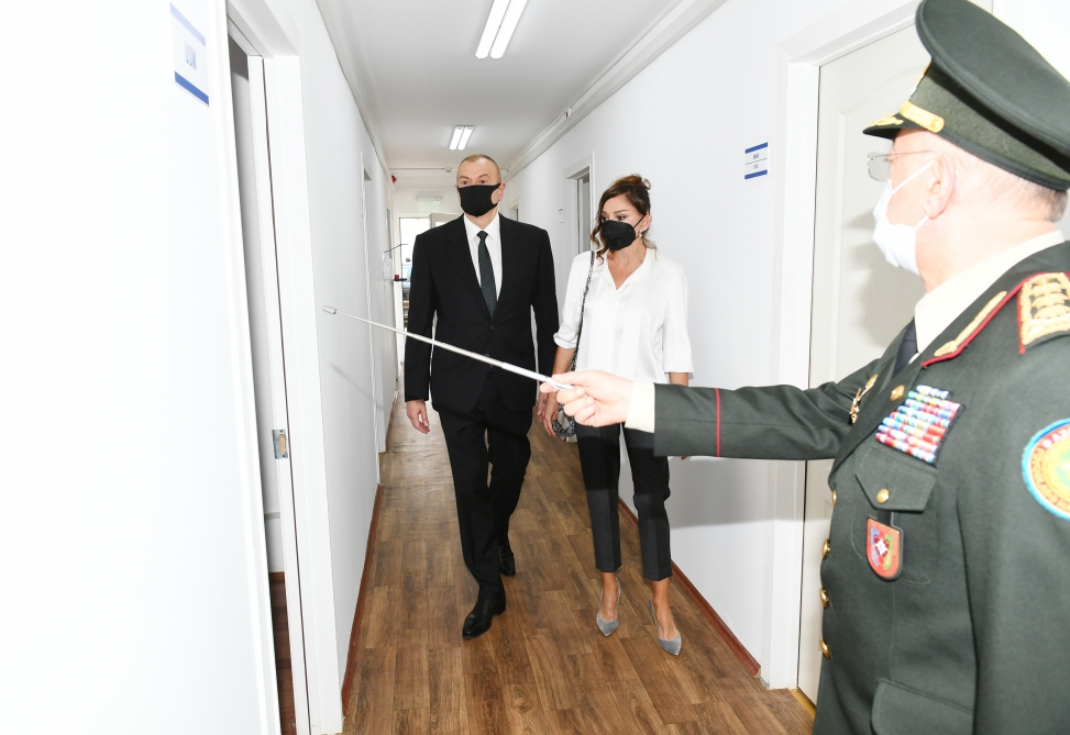 Modular hospital for treatment of coronavirus patients opened in Khatai district, Baku  President Ilham Aliyev and first lady Mehriban Aliyeva attended the inauguration VIDEO