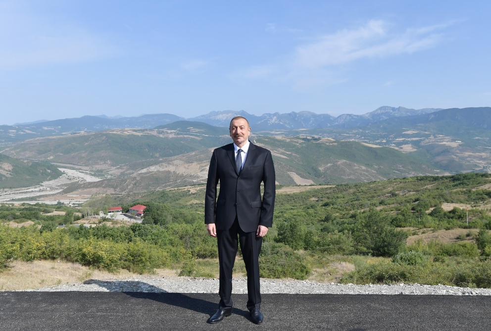 President Ilham Aliyev viewed reconstruction project of a part of Baku-Shamakhi-Mughanli-Ismayilli-Gabala highwayVIDEO