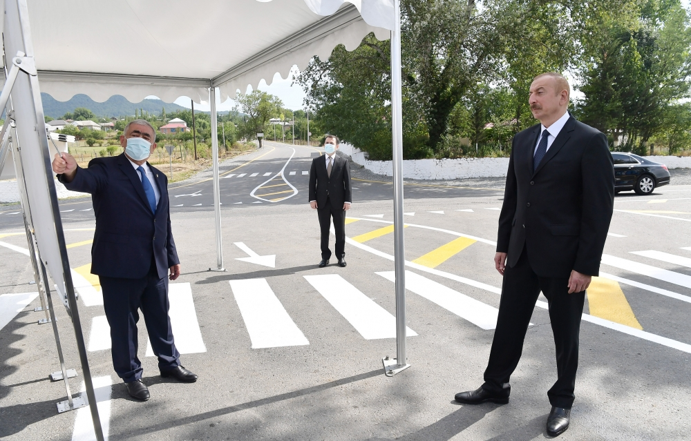 President Ilham Aliyev inaugurated newly reconstructed Tazakand-Aghbulag-Goshakand highway VIDEO