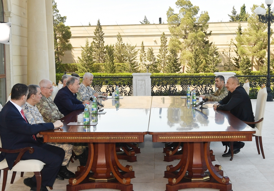 President Ilham Aliyev received delegation led by Turkish Minister of National Defense VIDEO