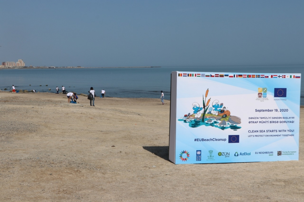 "EU Beach Clean-Up event held with motto ""Clean Sea starts with you"""