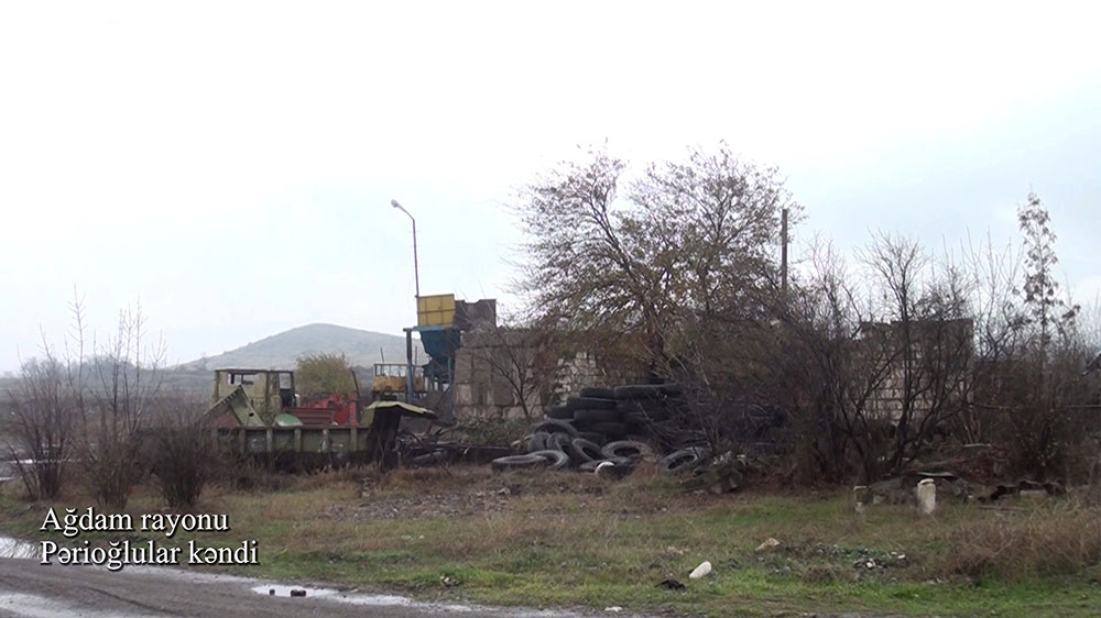 Azerbaijan's Defense Ministry releases video footage of Parioghlular village of Aghdam district VIDEO