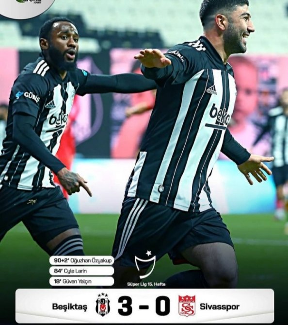 Besiktas up to No. 2 spot with Sivasspor win